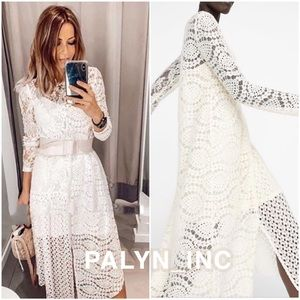 ❤️❤️ZARA ASYMMETRIC GUIPURE LACE DRESS
